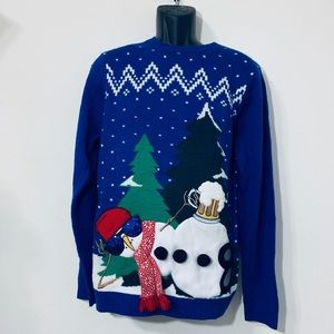 🔍Ugly Christmas Sweater Snowman Unisex